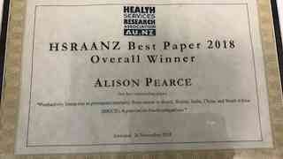 Best Health Services and Policy Research Papers - 2018 Award winner